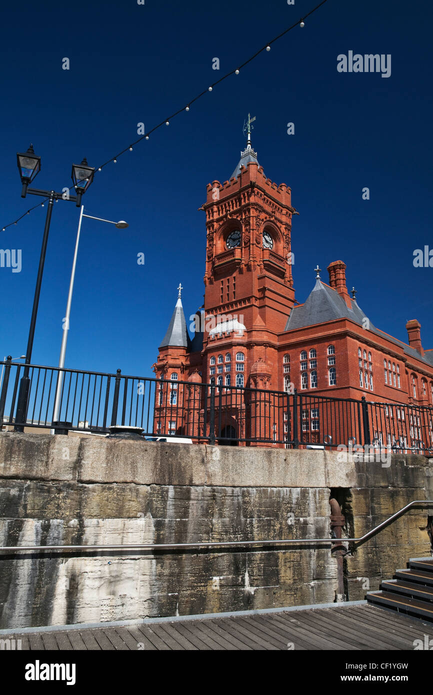 The Pierhead building, a Grade 1 listed building in Cardiff Bay. The building was originally built in 1891 as the Stock Photo
