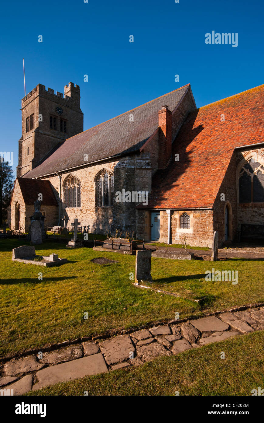 St Saint Michael The Archangel Parish Church Smarden Kent UK Village Churches - Stock Image