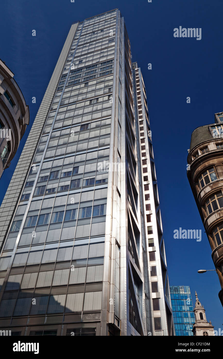 Heron Tower (110 Bishopsgate), the tallest building in the City of London and the third tallest in London overall. - Stock Image