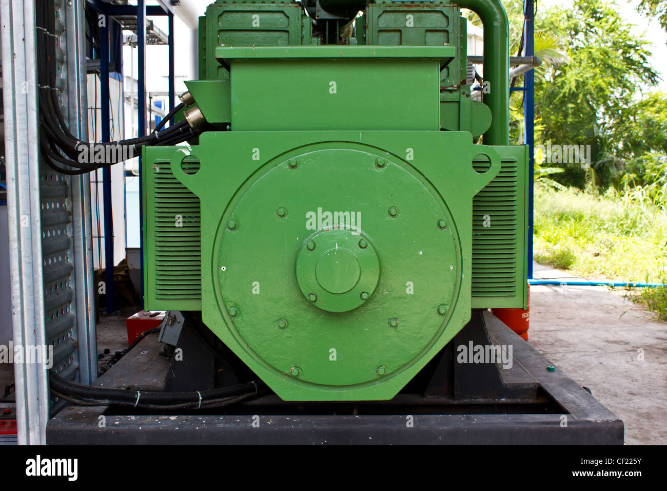 powerful electric motors for modern industrial equipment - Stock Image