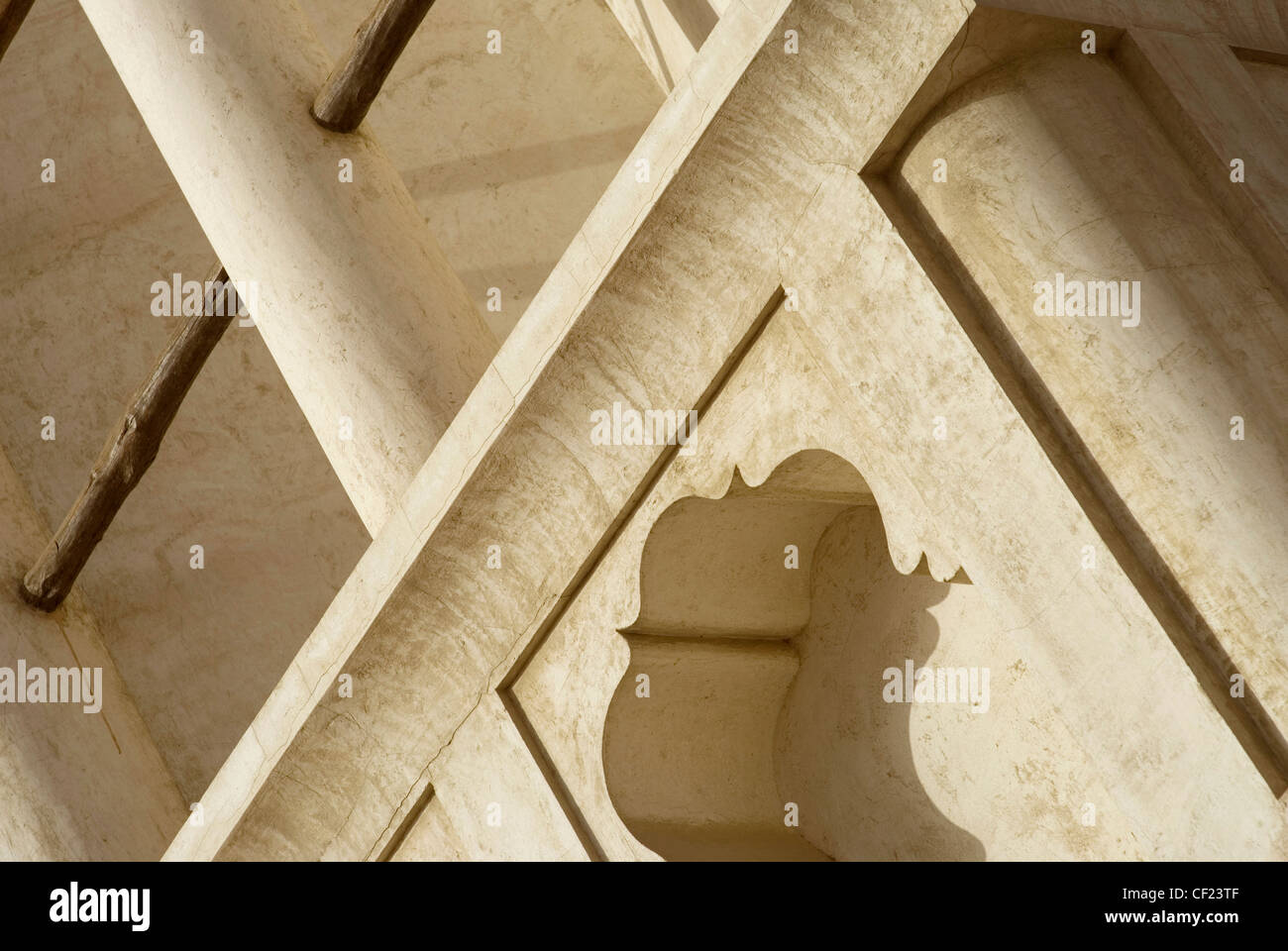 astract middle east traditional architecture in Dubai - Stock Image