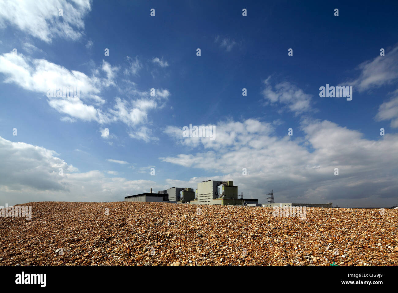 Dungeness nuclear power station on the Kent coast. - Stock Image