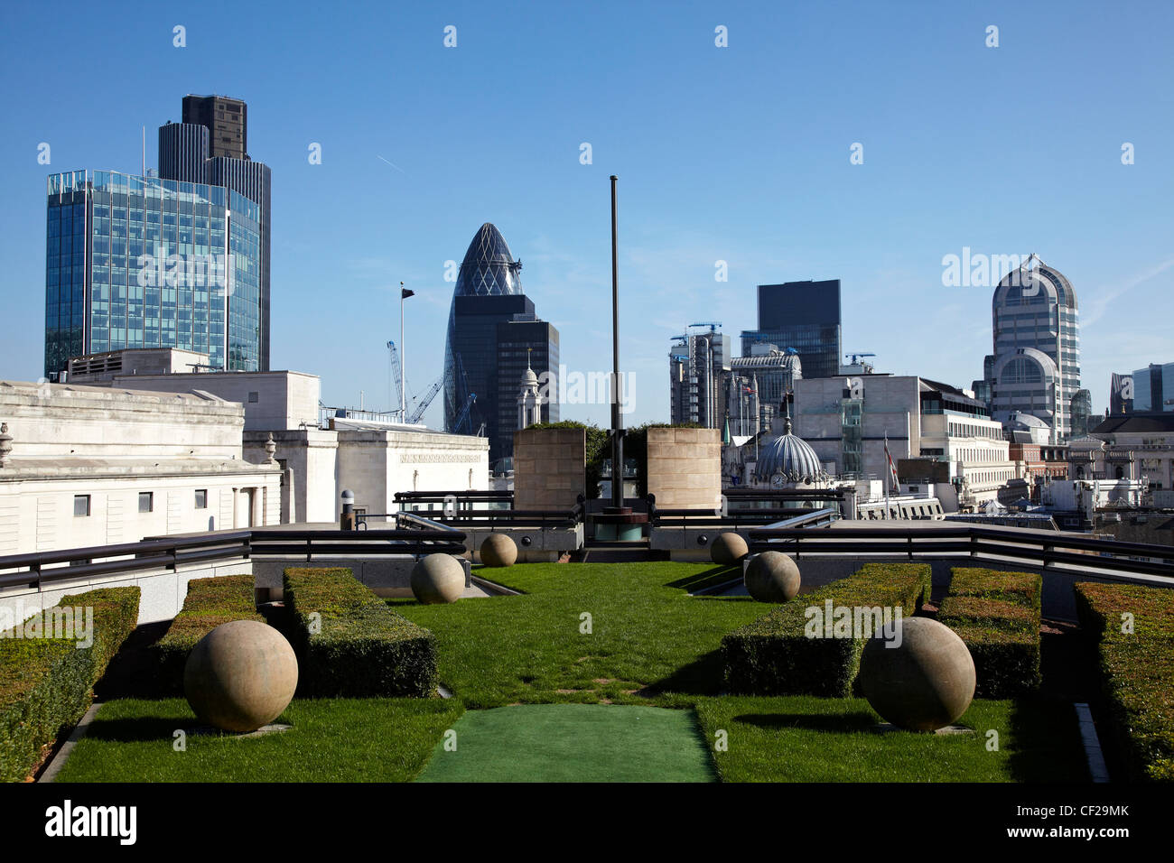 view of city of london landmark buildings from the roof of no 1