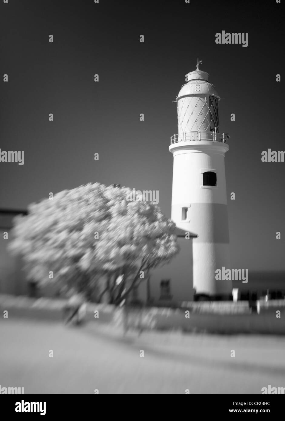 Souter Lighthouse, the world's first electric lighthouse. - Stock Image