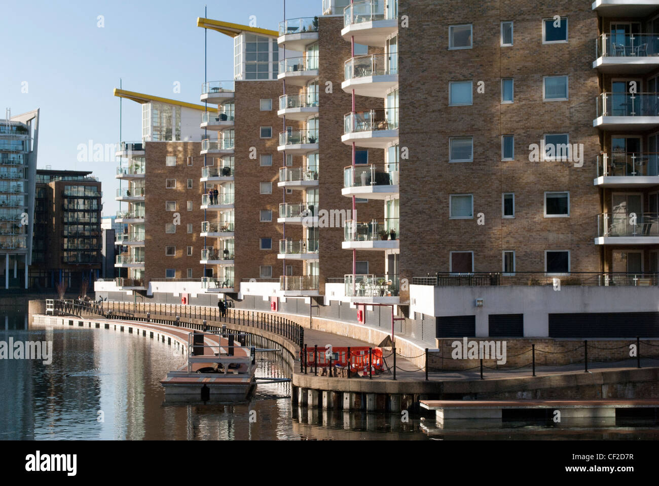 Limehouse Basin Apartments, London Docklands - Stock Image