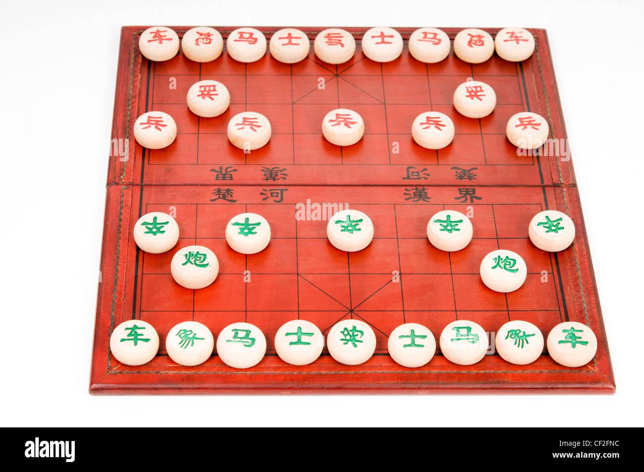 Chinese chess, Xiangqi, starting position - Stock Image