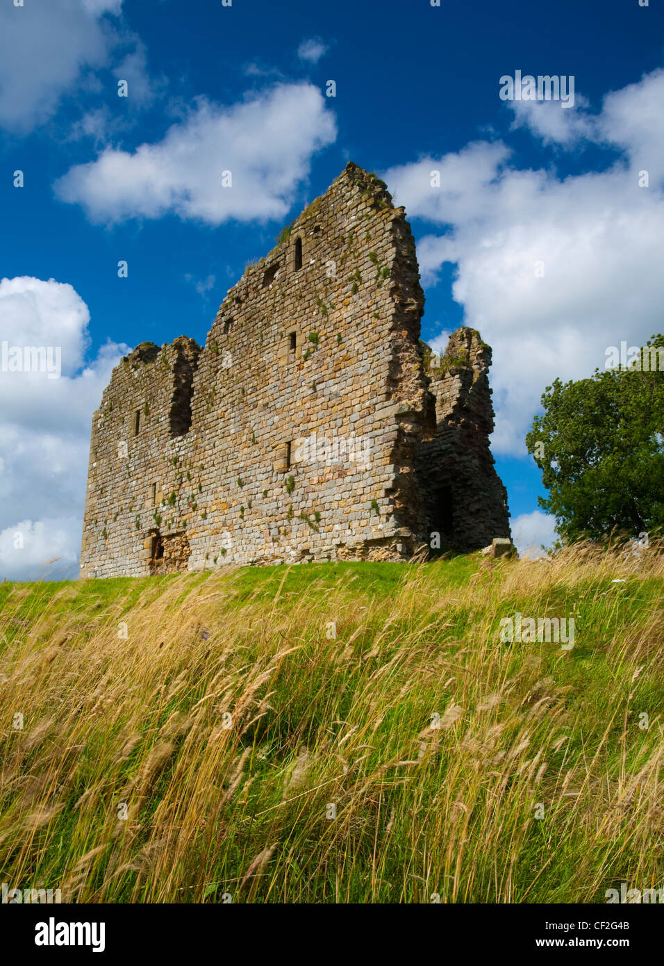 Thirlwall Castle, near Greenhead, part of the Northumberland National Park. - Stock Image