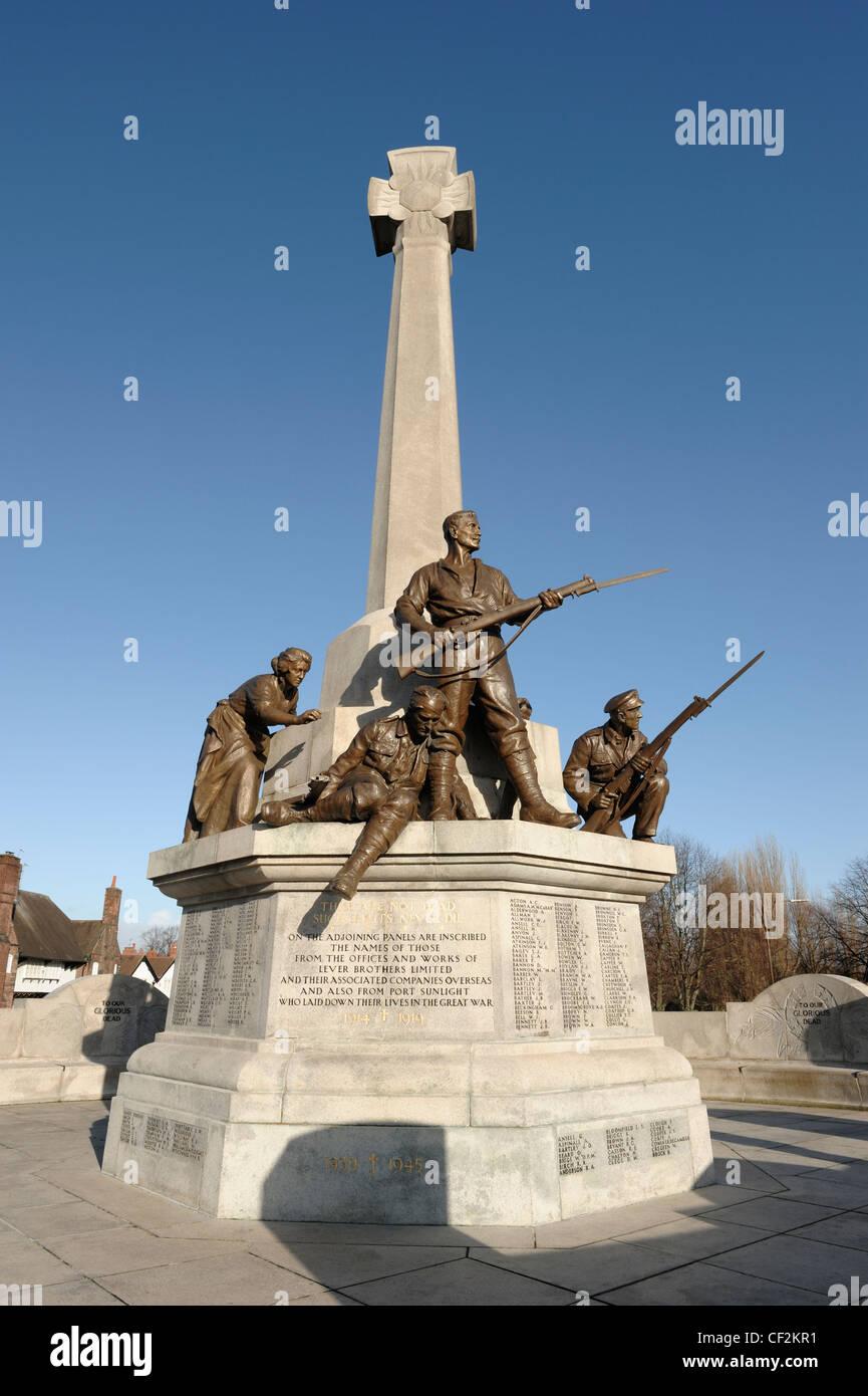 Port Sunlight Village War Memorial - Stock Image