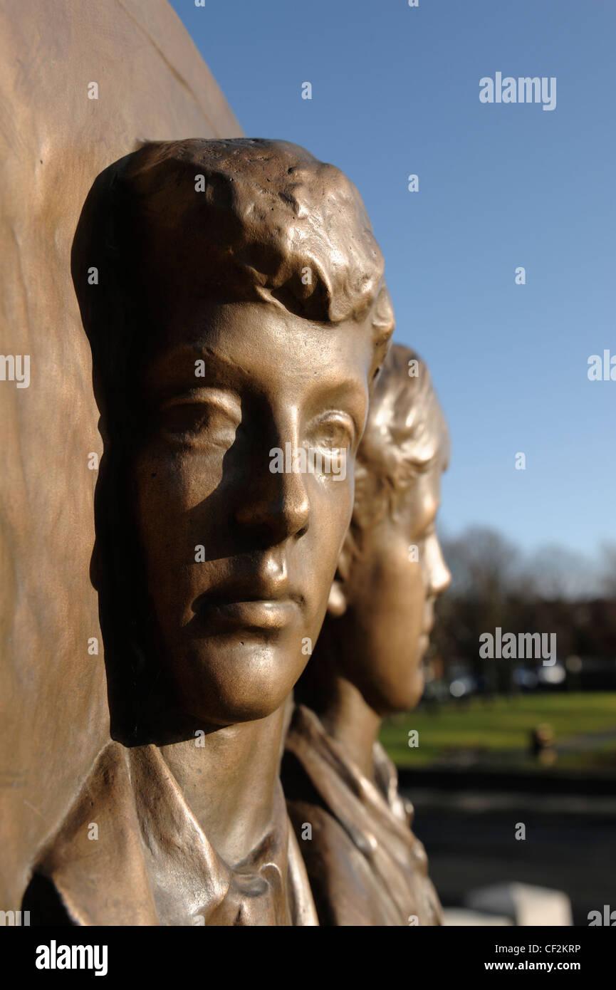 Port Sunlight Village War Memorial detail - Stock Image