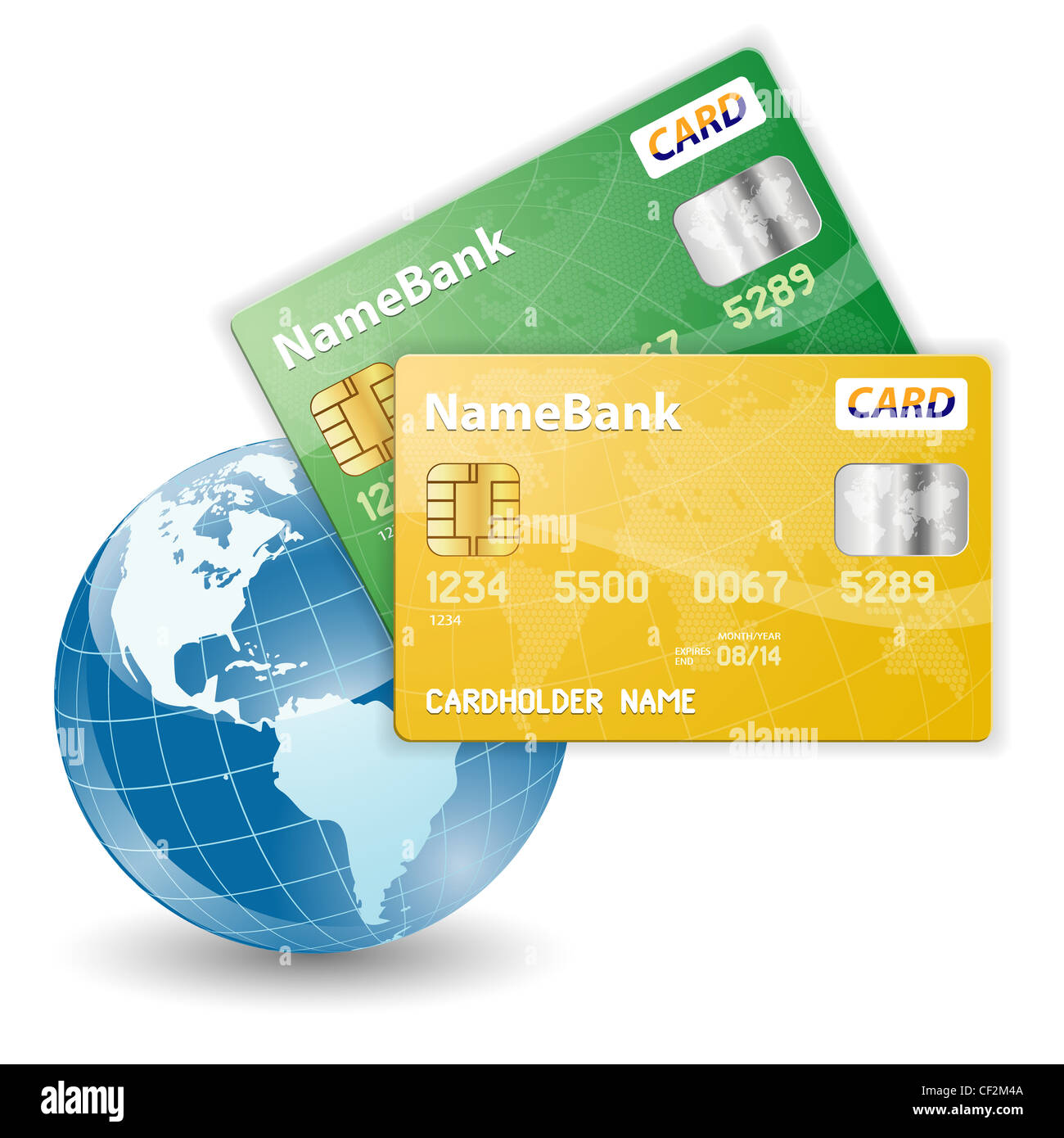 Concept of Online Shopping with Credit Cards and the Globe