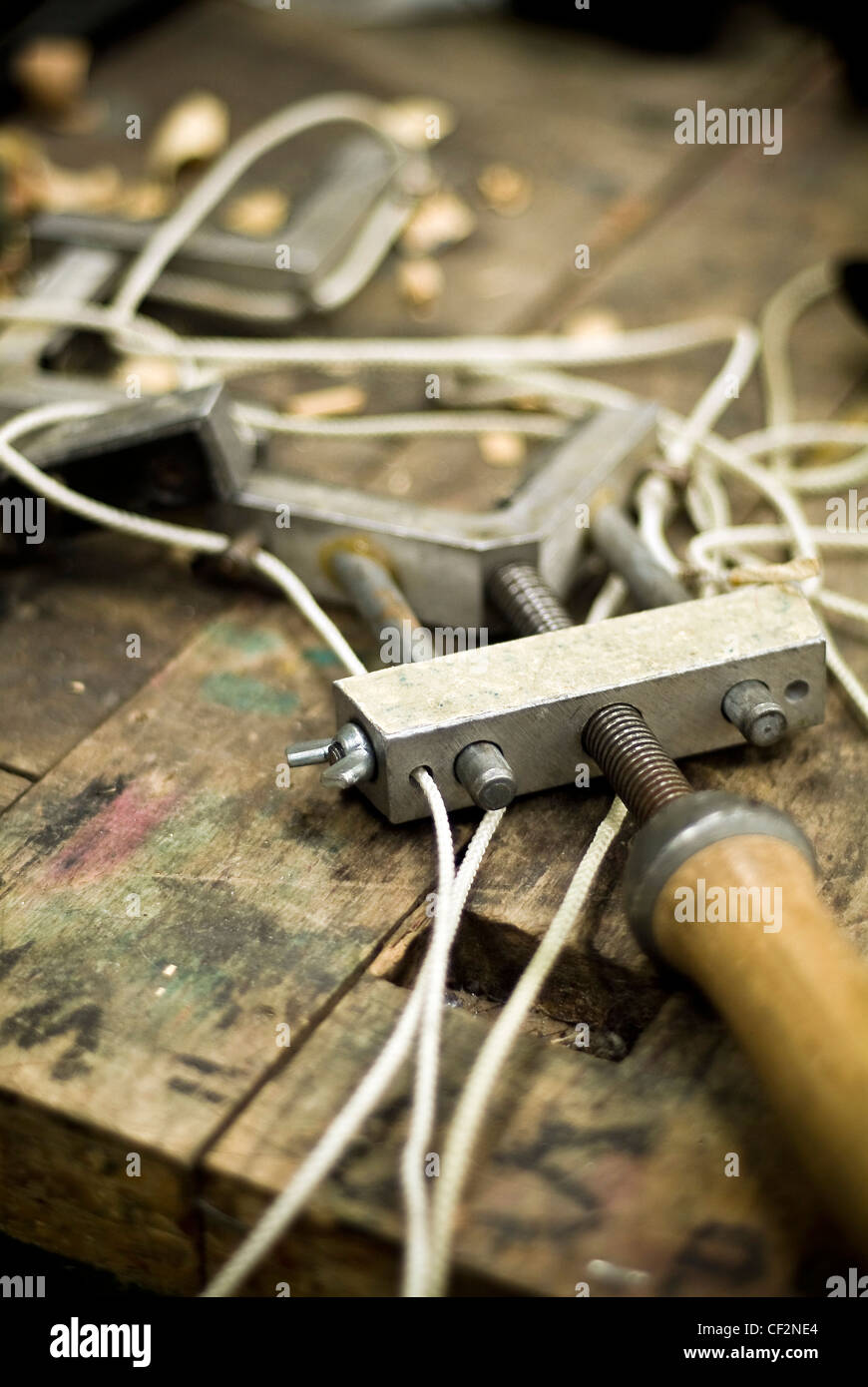 Picture framing tools on a work bench Stock Photo: 43701340 - Alamy