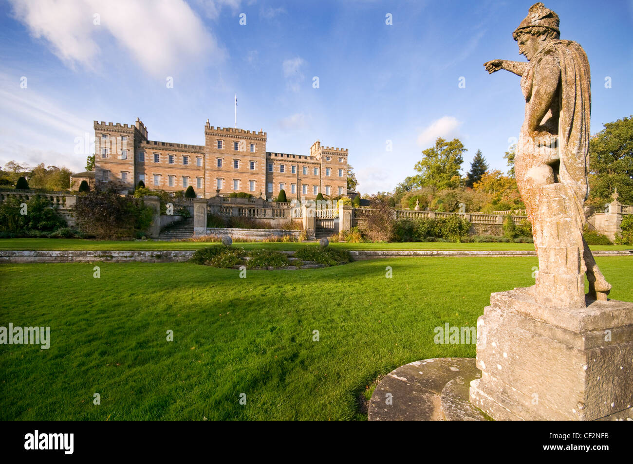 Mellerstain House, a stately home built between 1725 and 1778 in the Scottish Borders. The architect William Adam - Stock Image