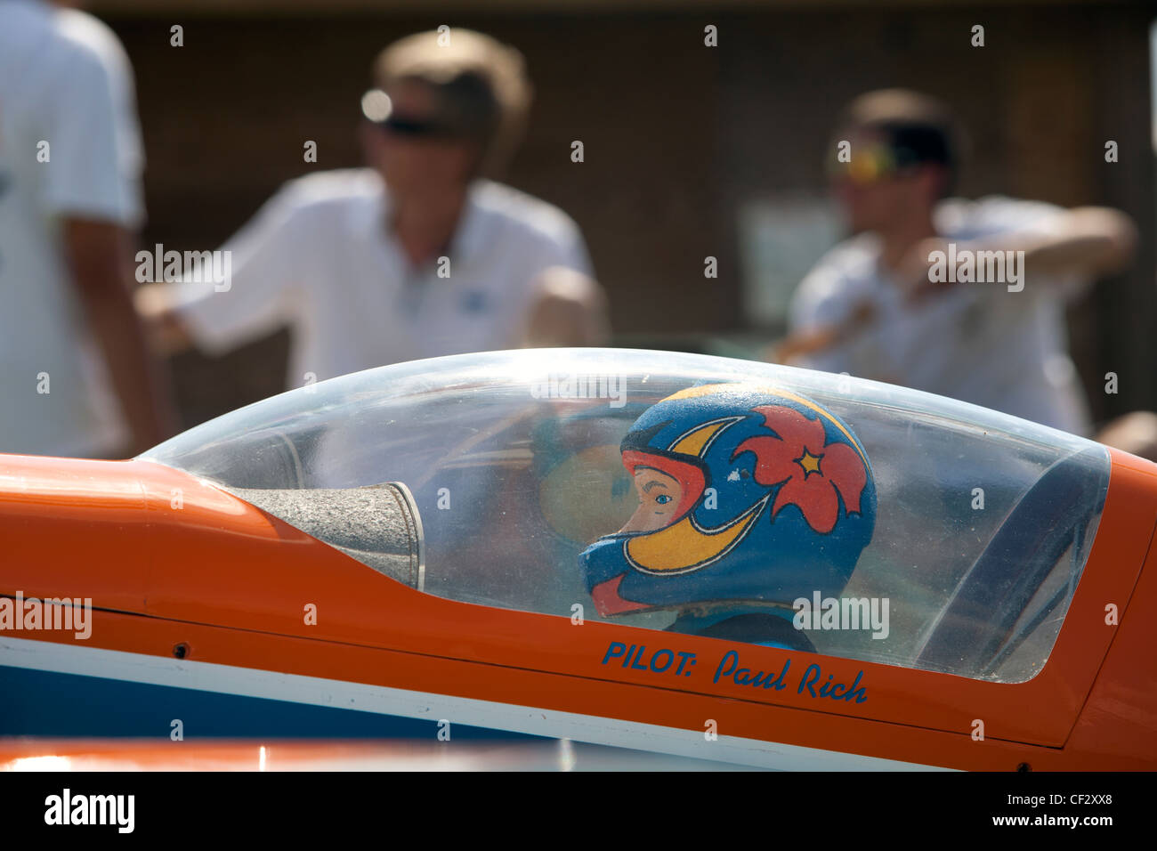 Radio controlled model airplane flight acrobatics competition in Homestead, Florida - Stock Image