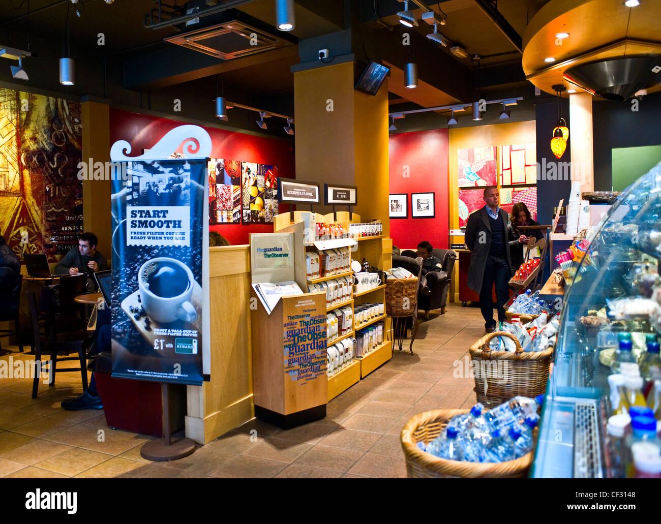 The interior of a Starbucks Coffee Shop Stock Photo: 43707336 - Alamy