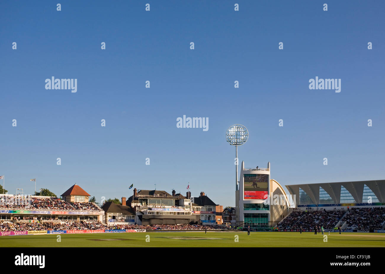 An international cricket match at Trent Bridge, home of Nottinghamshire County Cricket Club. - Stock Image