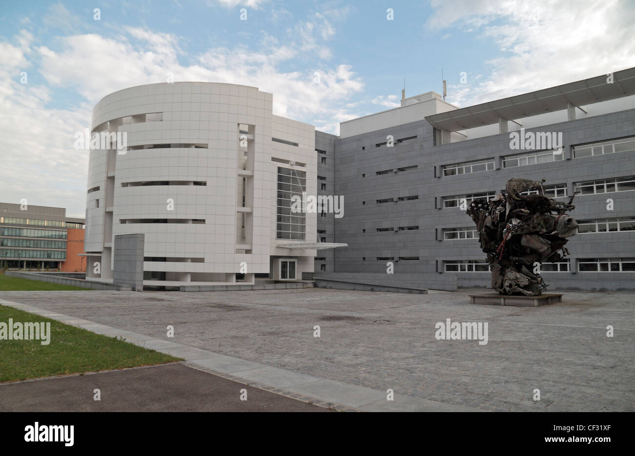 The UniCredit Luxembourg offices in Kirchberg, Luxembourg city, Luxembourg. - Stock Image