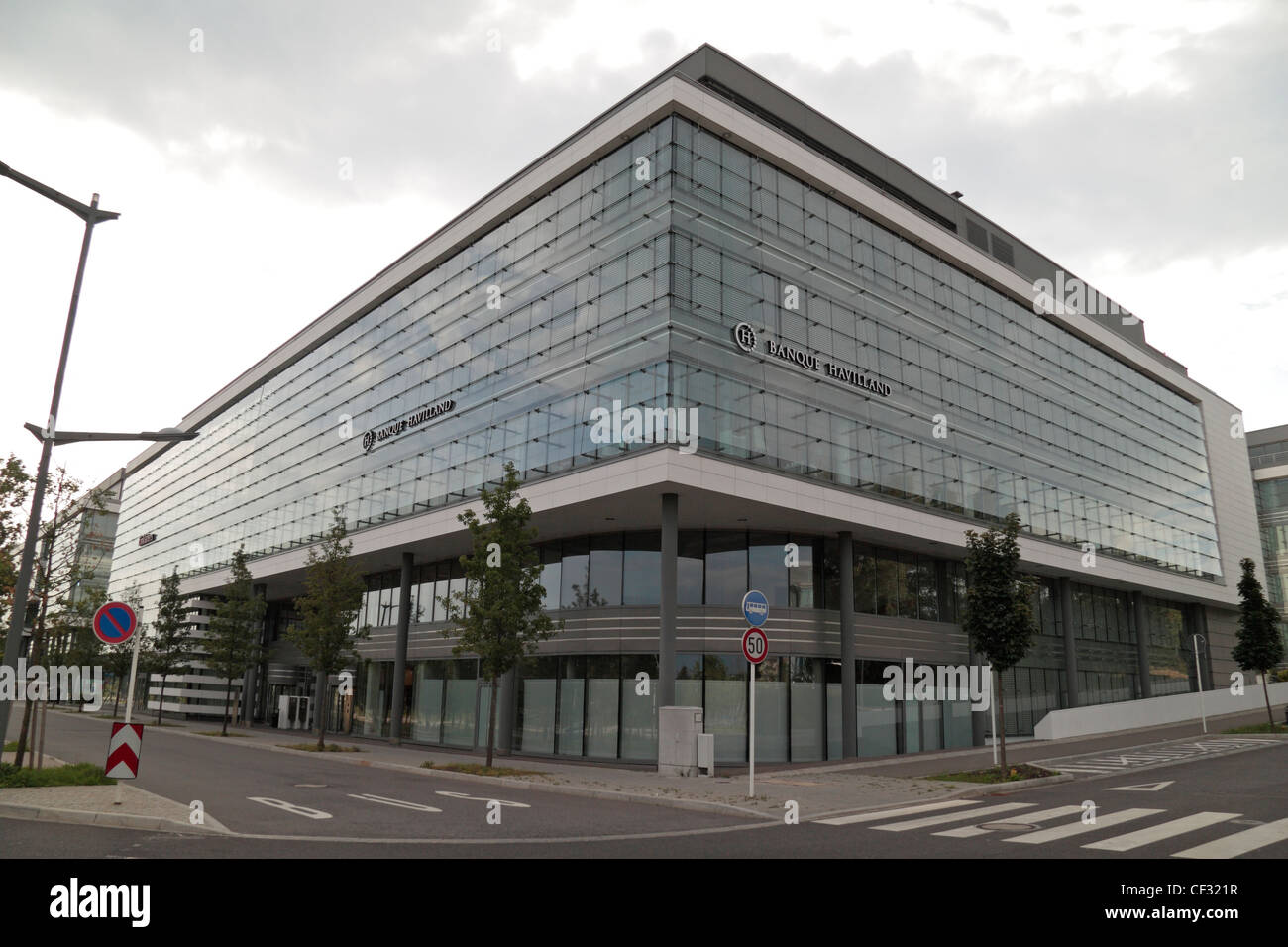 The 'Banque Havilland' loffices in Kirchberg, Luxembourg city, Luxembourg. - Stock Image