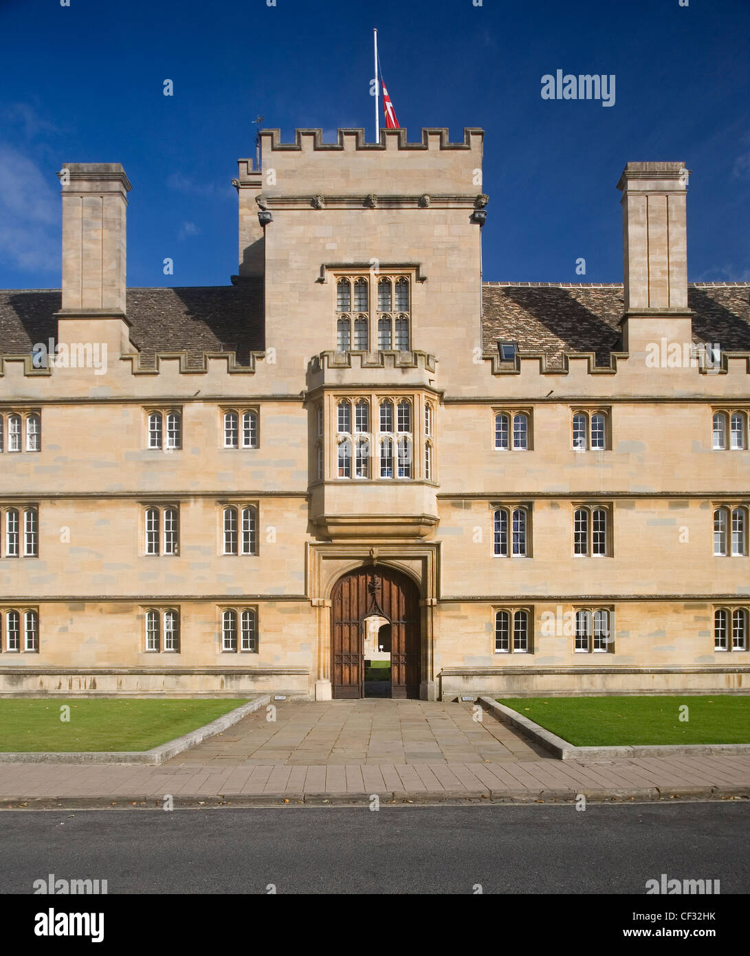 Wadham College, one of the largest colleges of Oxford University, founded in 1610 by Dorothy Wadham. - Stock Image