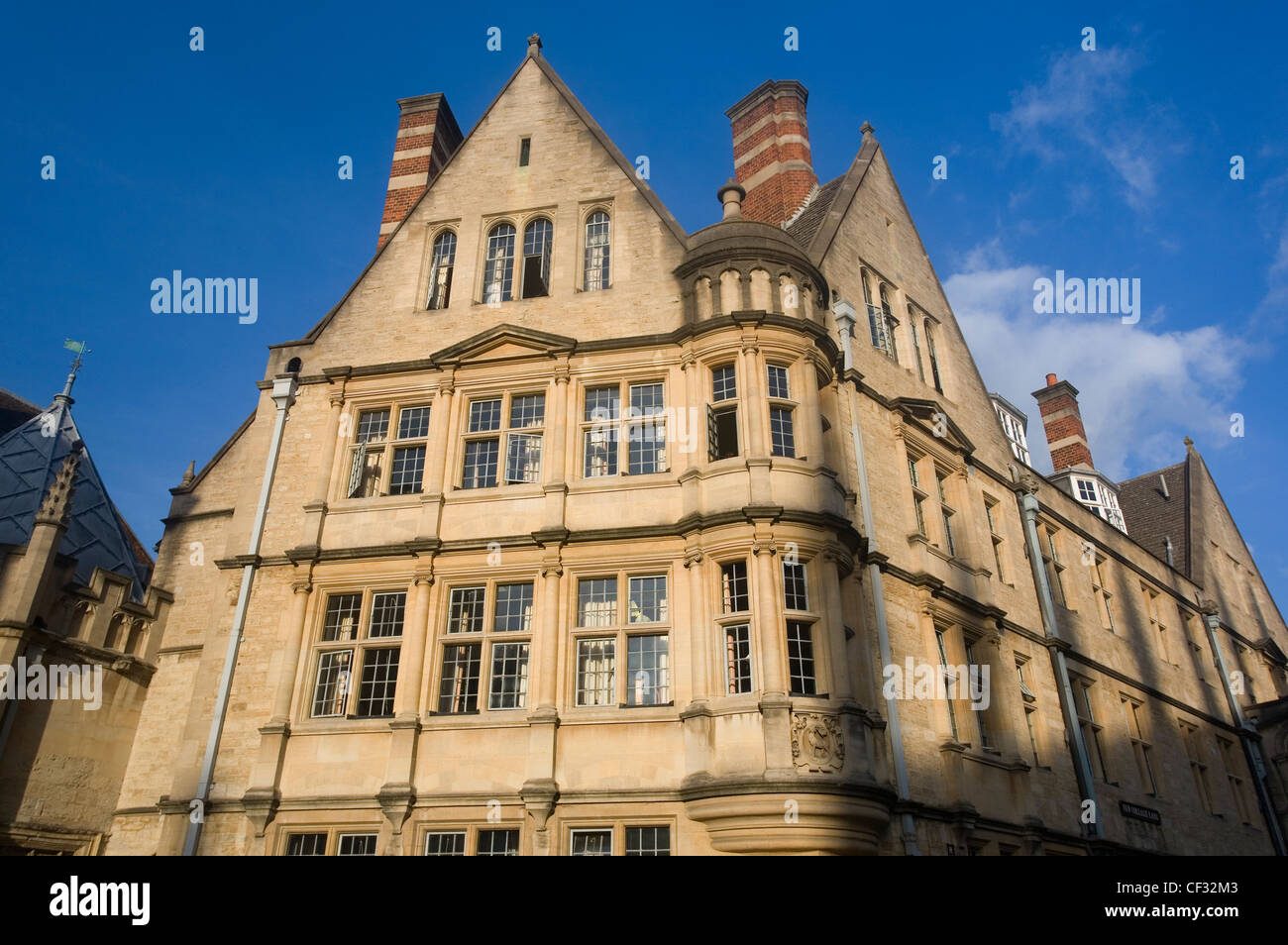 Hertford College, one of the constituent colleges of Oxford University. The college was originally founded as Hart - Stock Image