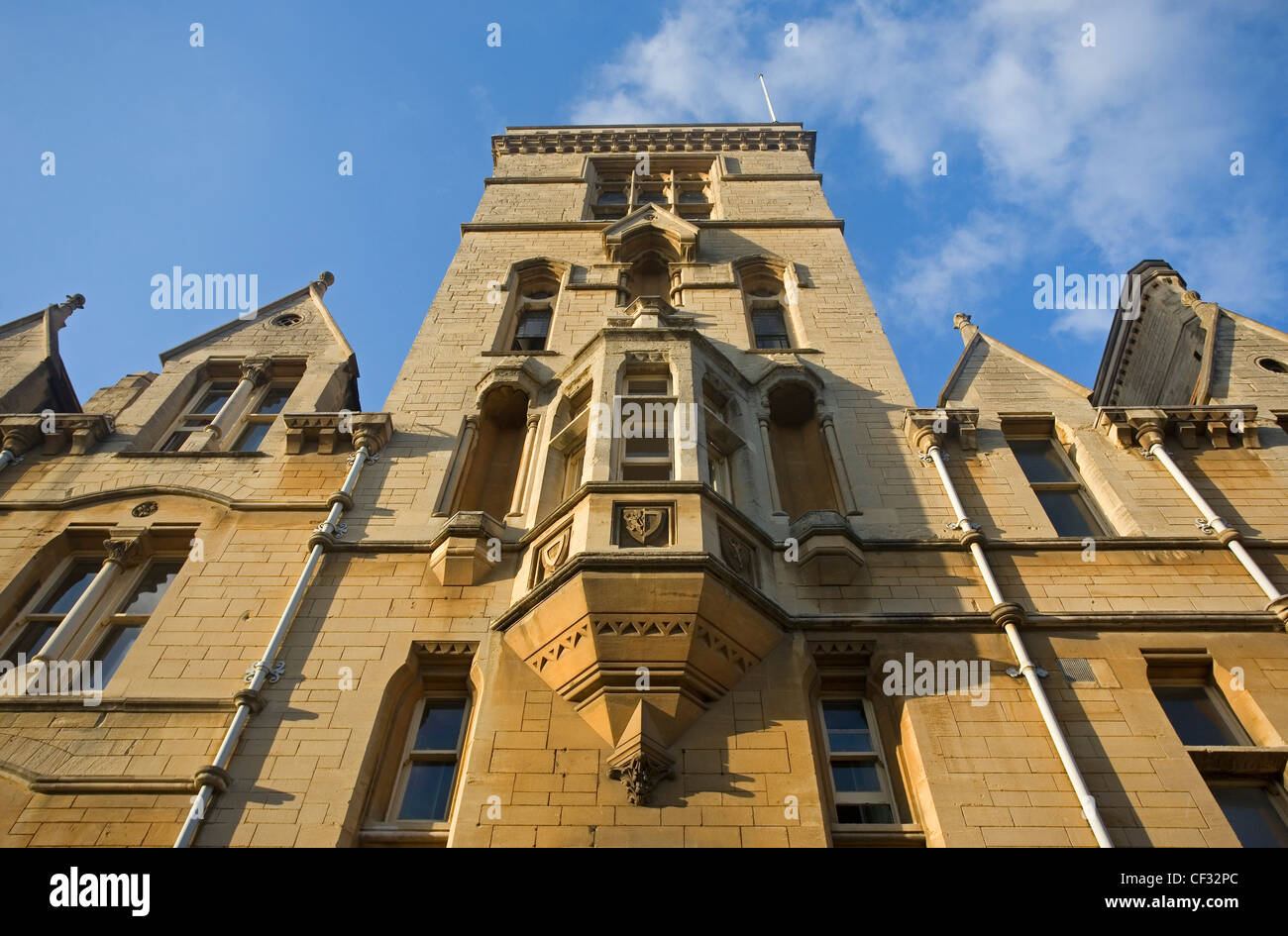 Balliol College, one of the largest and oldest colleges (founded in 1263) of Oxford University. Some notable contemporary - Stock Image