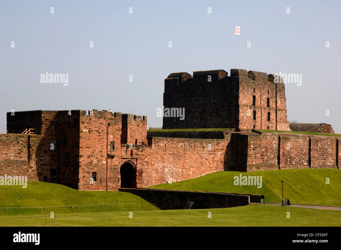 Carlisle Castle, a medieval fortress that has played a significant role in the disputed border between England and - Stock Image