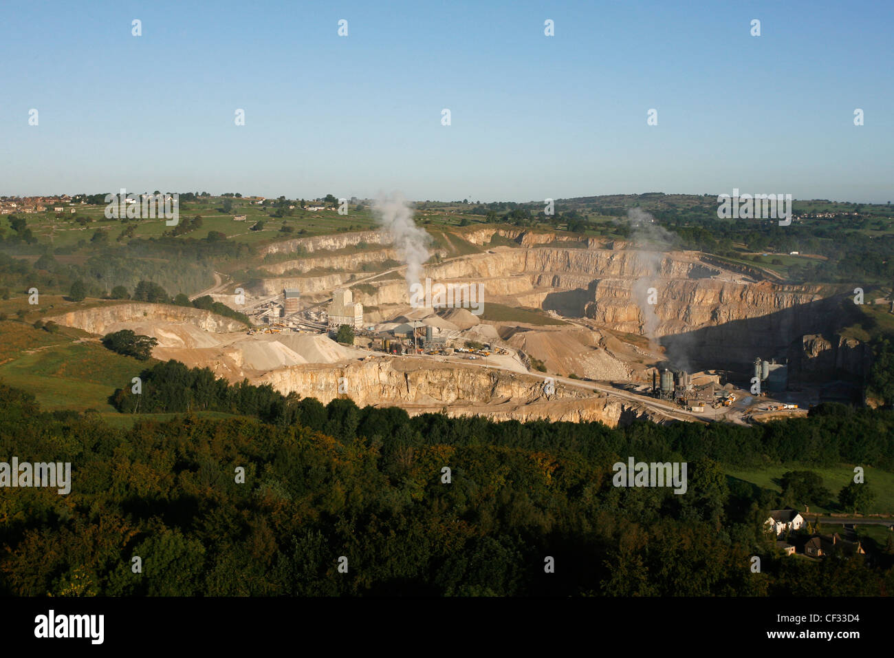 Middleton mine, near Wirksworth in the Peak District National Park, the only mine in Britain where the limestone Stock Photo