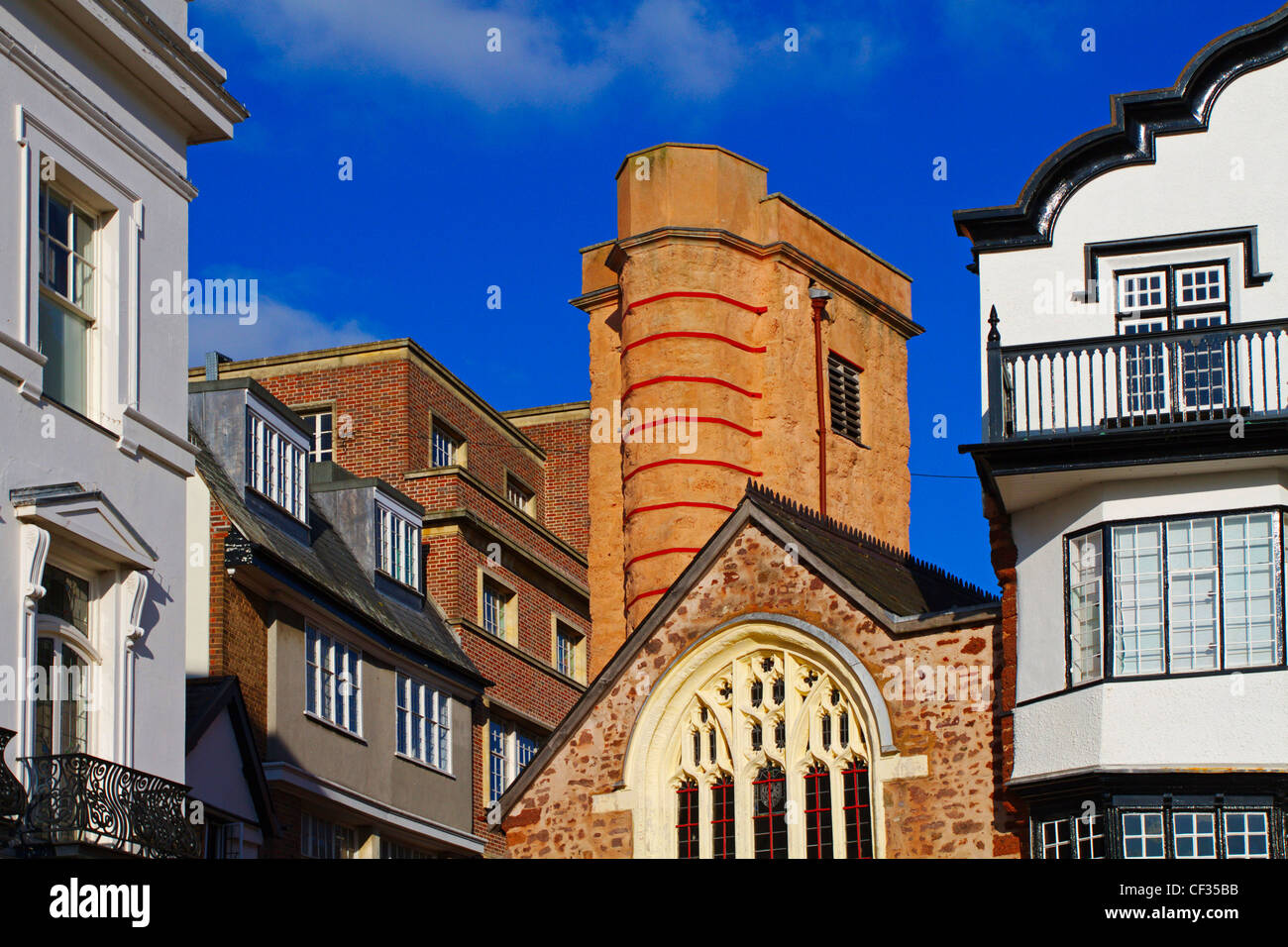 The fifteenth century St Martin's Church  and 17th century tower in Cathedral Close. The building is now a redundant - Stock Image