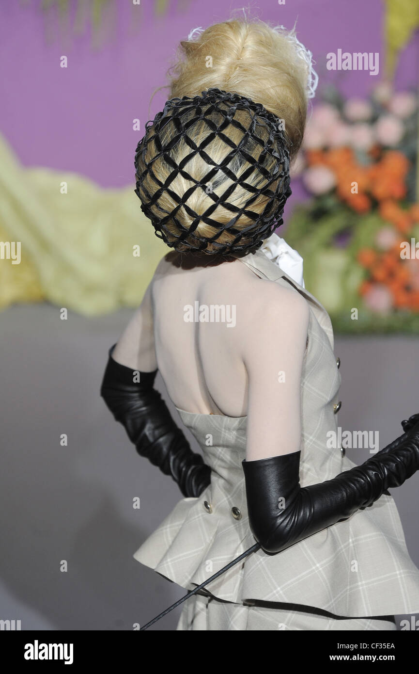 Christian Dior Paris Haute Couture Ready To Wear Spring Summer Model Stock Photo Alamy