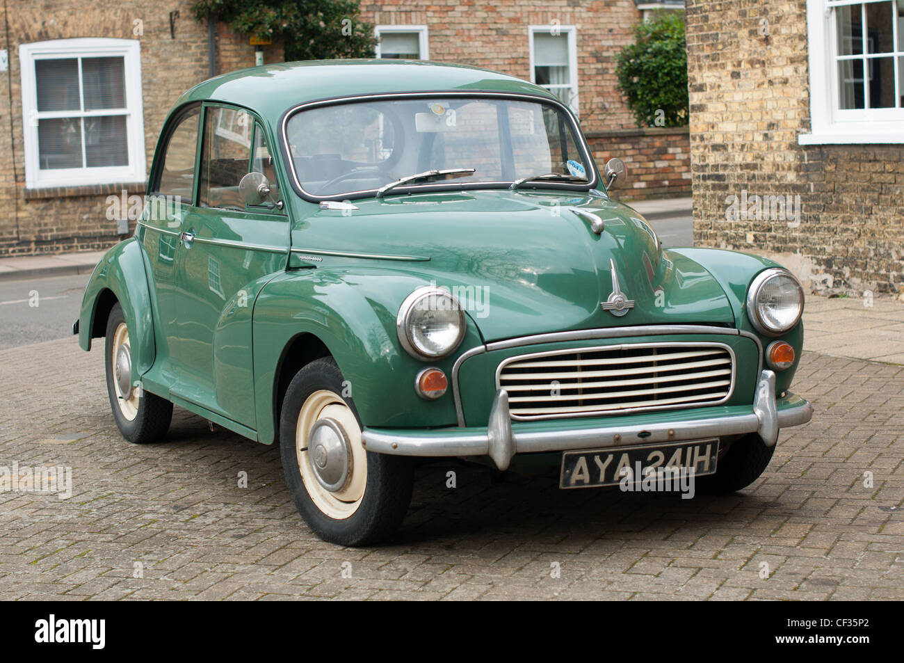 Morris Minor car seen parked in Ely, Cambridgeshire, England. - Stock Image