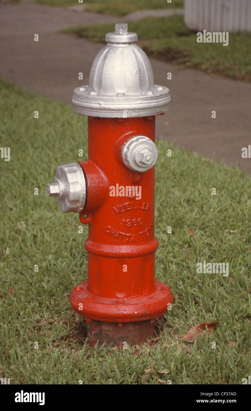 USA Galveston Texas Fire Hydrant  - Stock Image