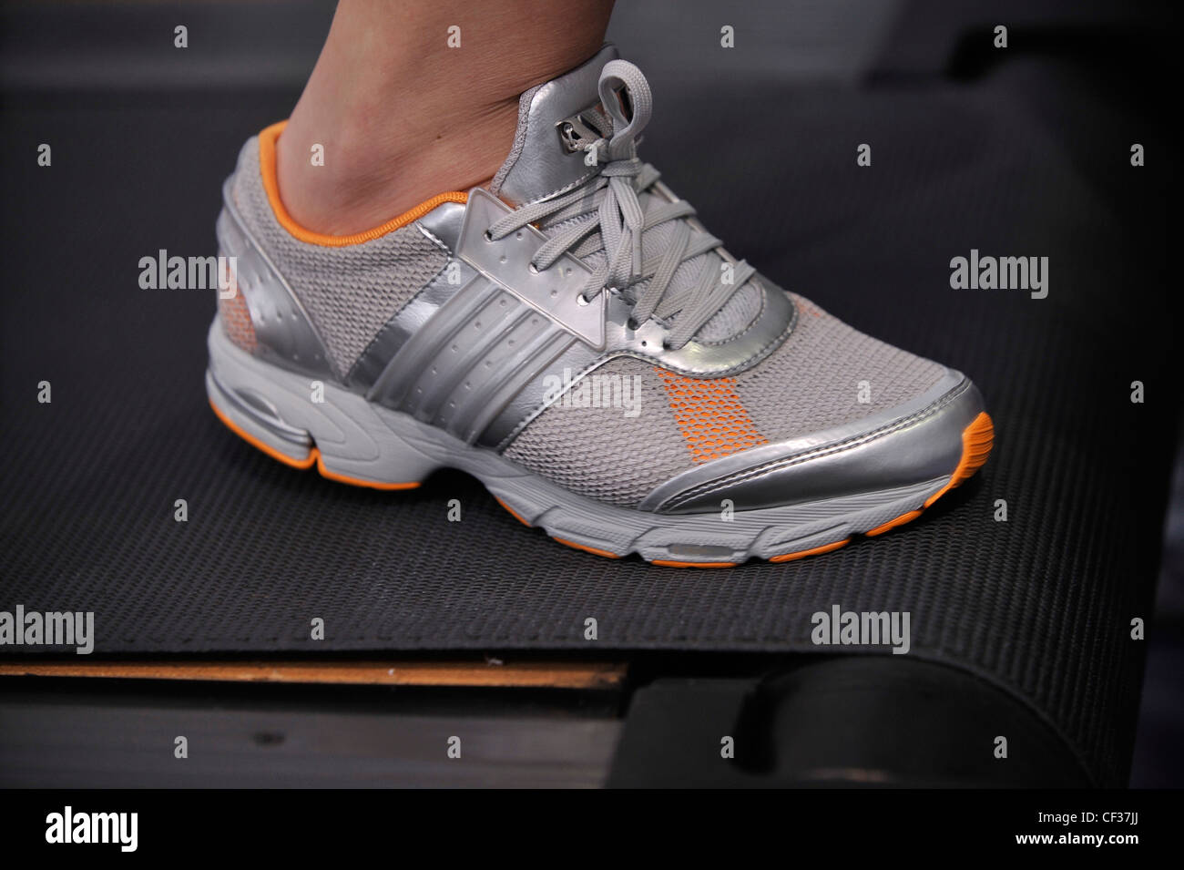 hot sale online 6855e 8abac Stella McCartney Adidas London Ready to Wear Spring Summer Grey Adidas  trainers - Stock Image