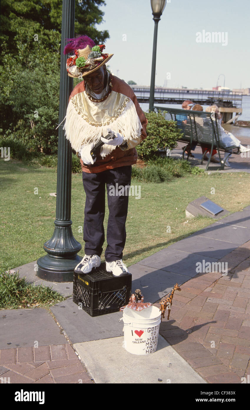 USA New Orleans Human Statue  - Stock Image