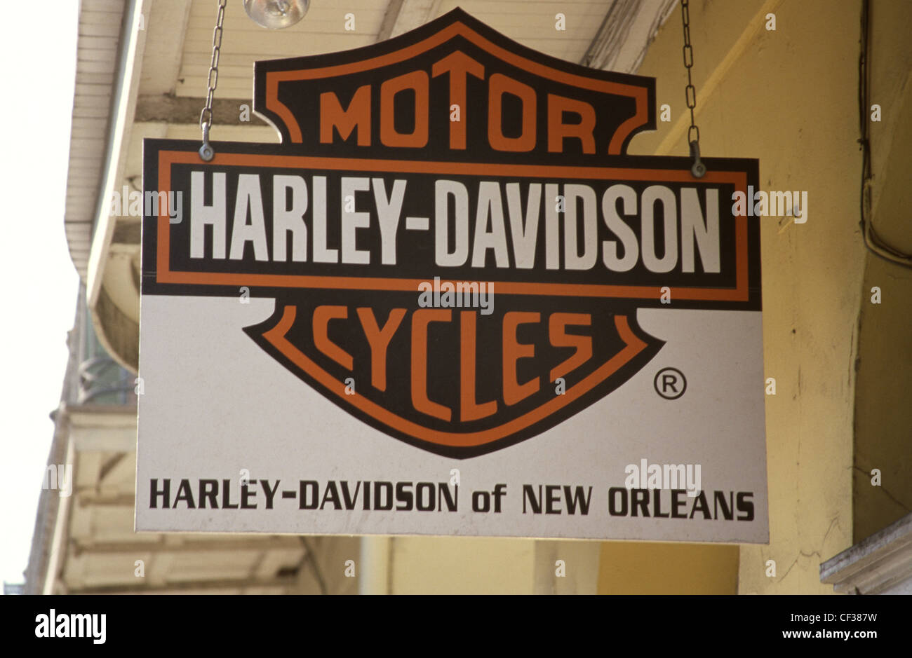 New Orleans Harley Davidson >> Usa New Orleans Harley Davidson Sign Stock Photo 43712925