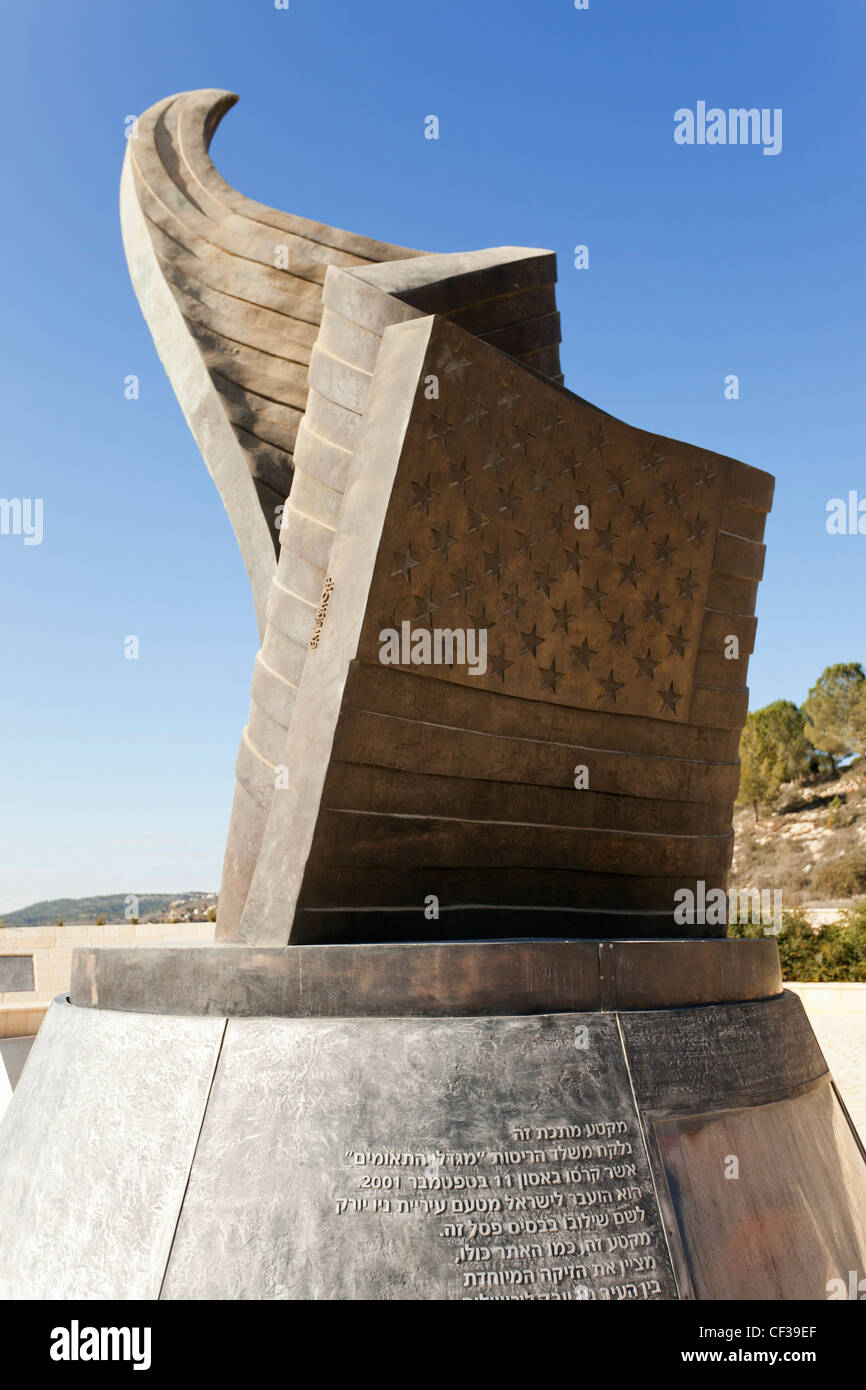 Israel,Jerusalem, 9/11 Memorial Stock Photo