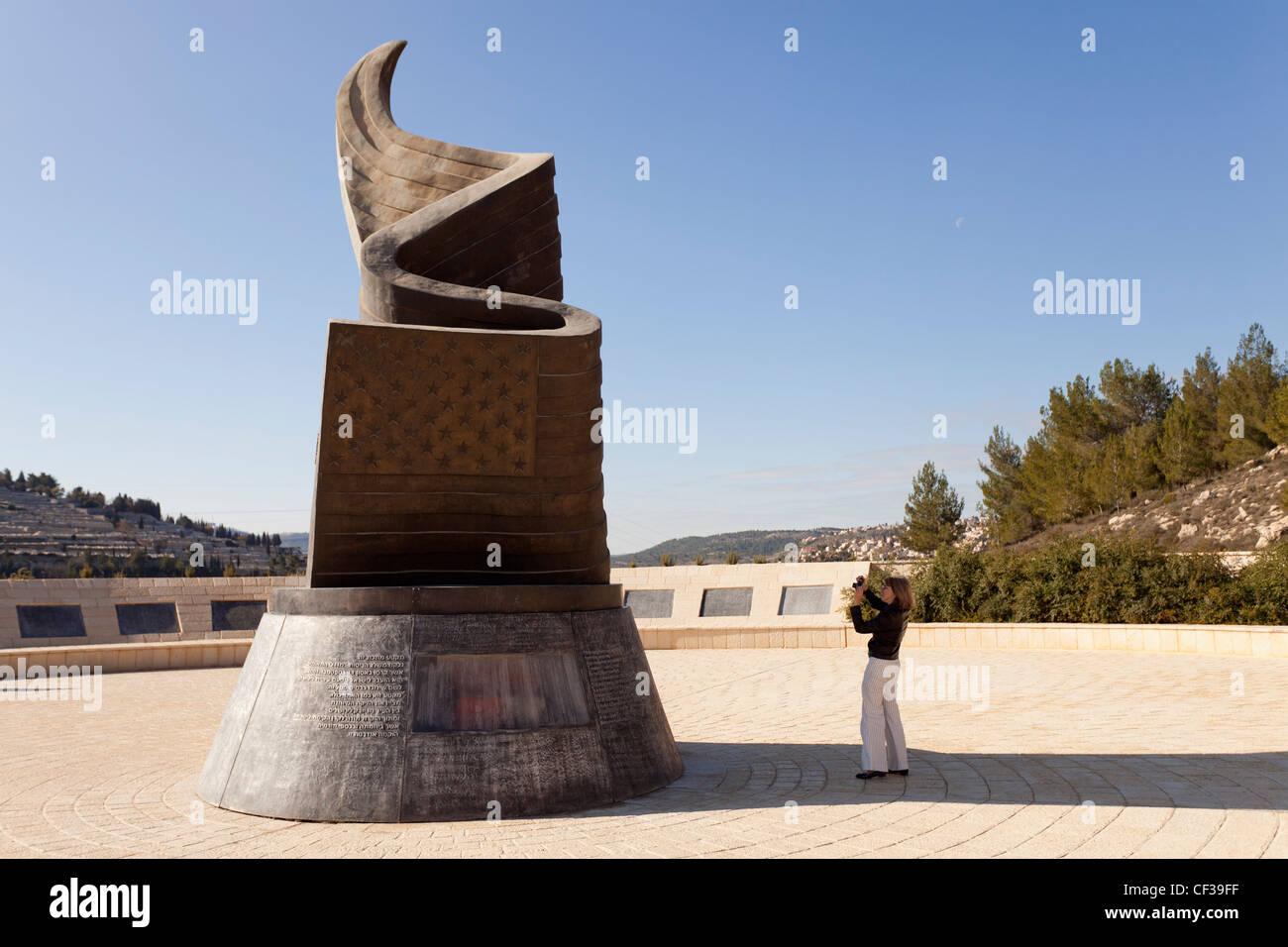 Israel,Jerusalem, 9/11 Memorial Stock Photo