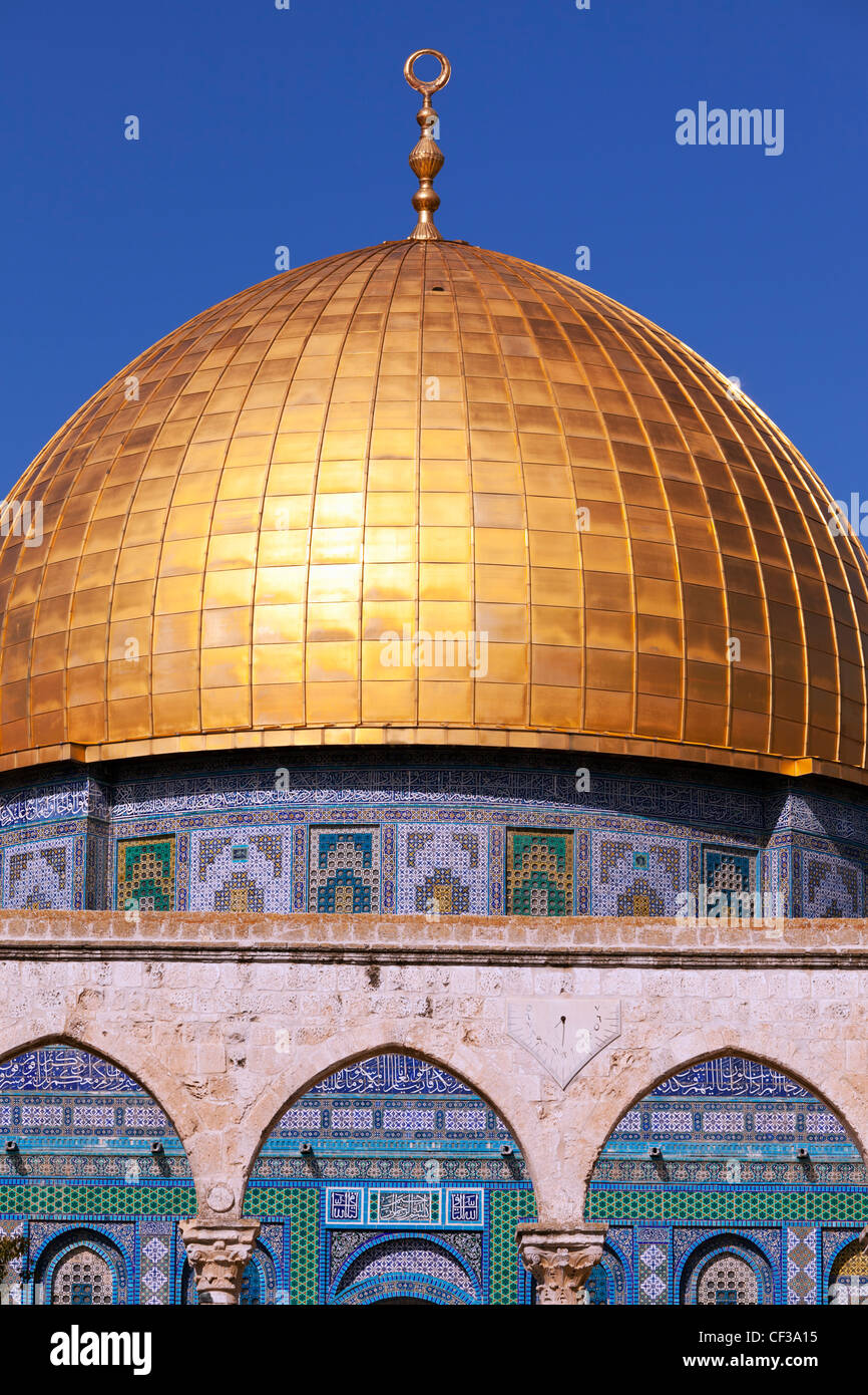 Israel, Jerusalem,Dome of the Rock on Temple Mount Stock Photo