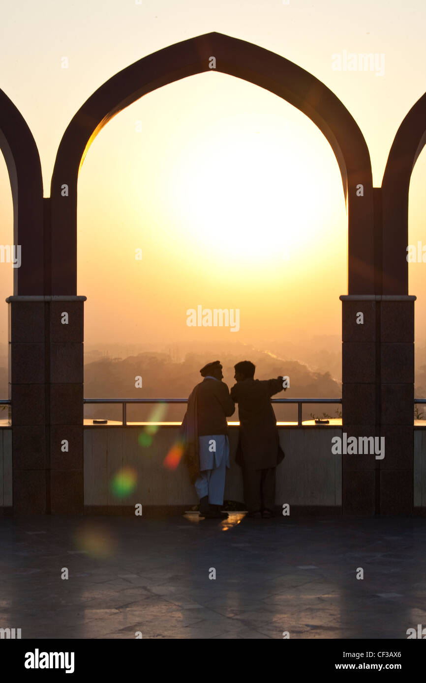 View from the Pakistan Monument, in Islamabad, Pakistan - Stock Image