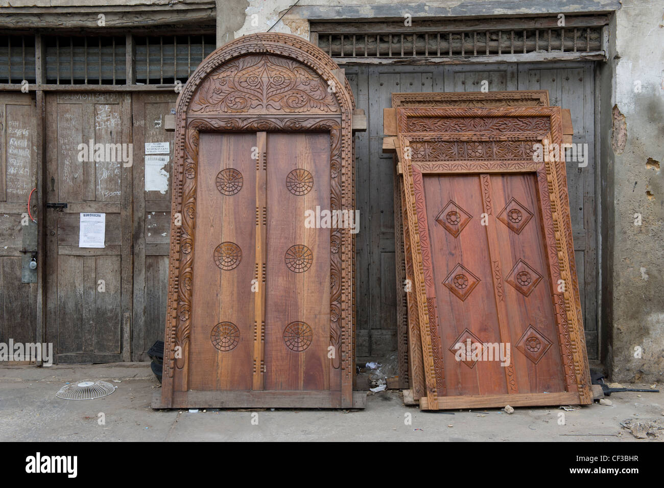 Ornate Arabic doors for sale in Stone Town Zanzibar Tanzania : doors sale - pezcame.com