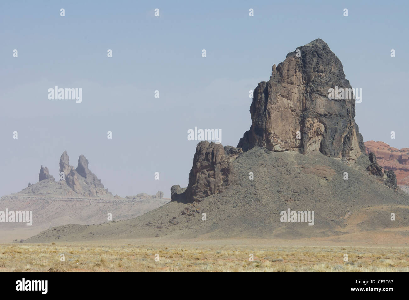 Volcanic rock formation of Monument Valley, Arizona, USA - Stock Image