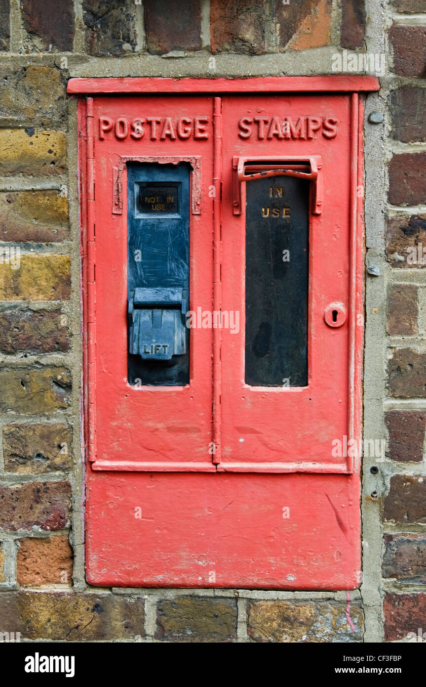 A close up of an old style postage stamp box in Eton. - Stock Image
