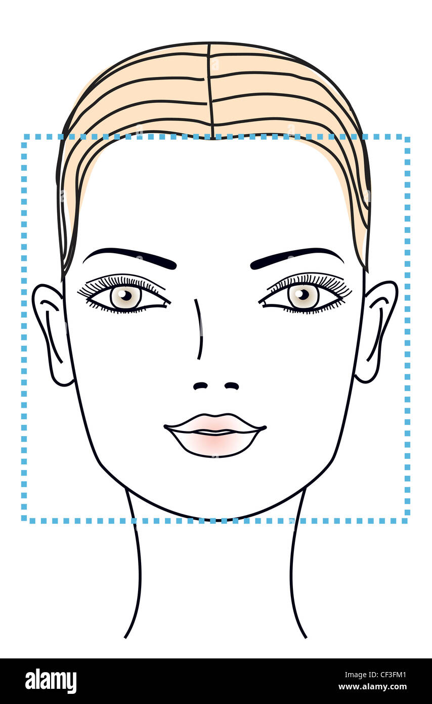 Amazing Different Face Shapes Square Face Stock Photo 43718753 Alamy Natural Hairstyles Runnerswayorg