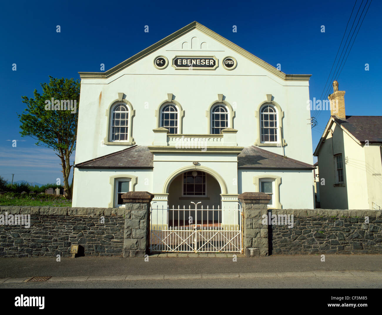 Capel Ebeneser (Hebrew Eben-ezer: stone of the help), Calvinistic Methodist chapel founded 1785 and later re-built - Stock Image