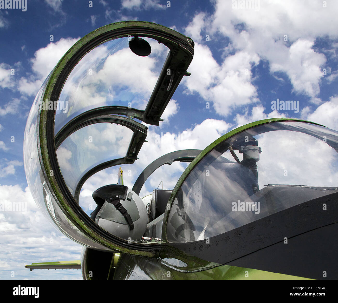 cockpit of jet albatross - Stock Image