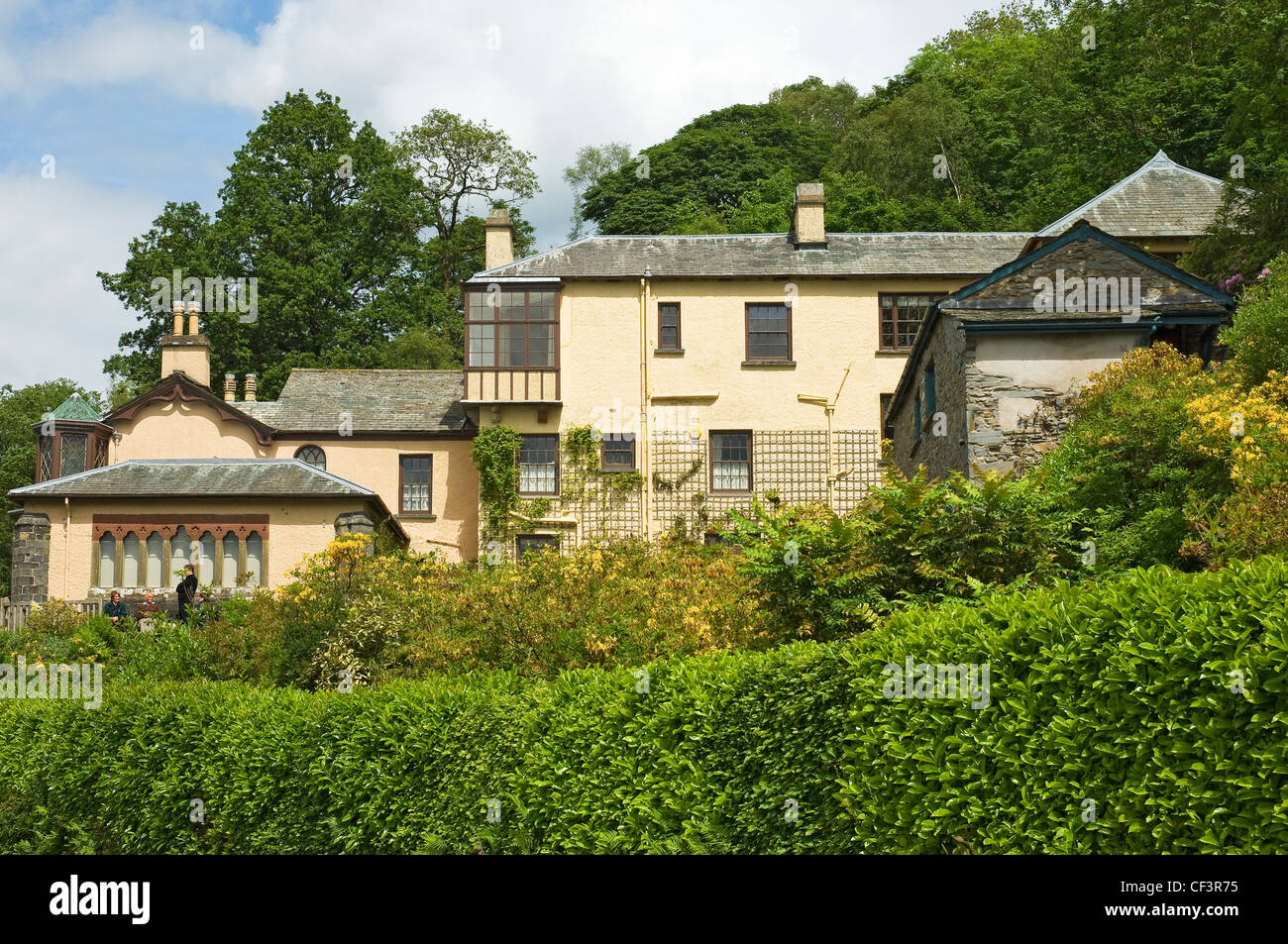 Brantwood the former home of John Ruskin (19th century artist and writer), is both a treasure house of historical - Stock Image