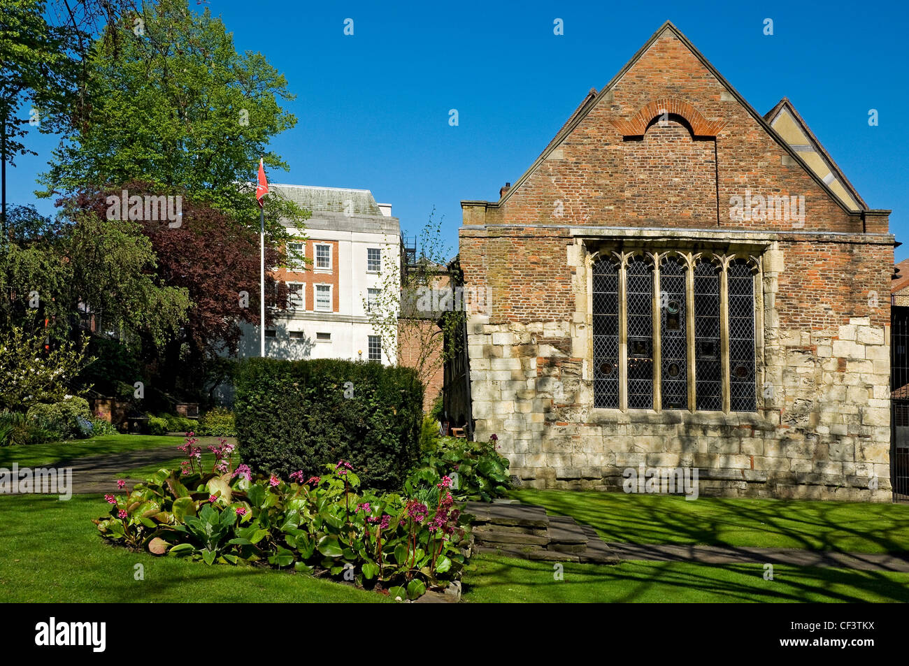 Merchant Adventurers' Hall, built in the 14th century as a place for medieval merchants to conduct business - Stock Image