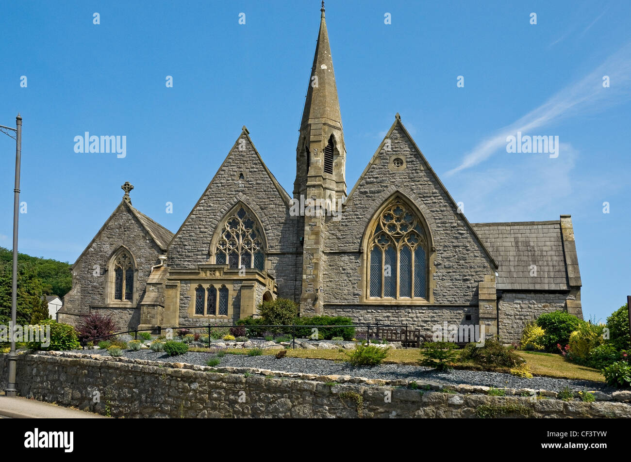 The Parish Church of St Paul consecrated in 1853. - Stock Image