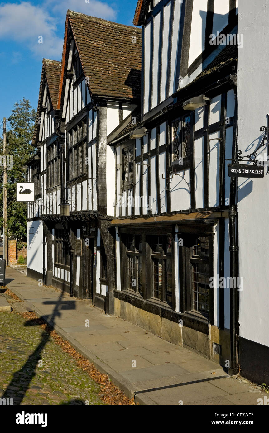 The Black Swan pub in Peasholme Green. The first record of the building being used as a pub is from 1763 though - Stock Image