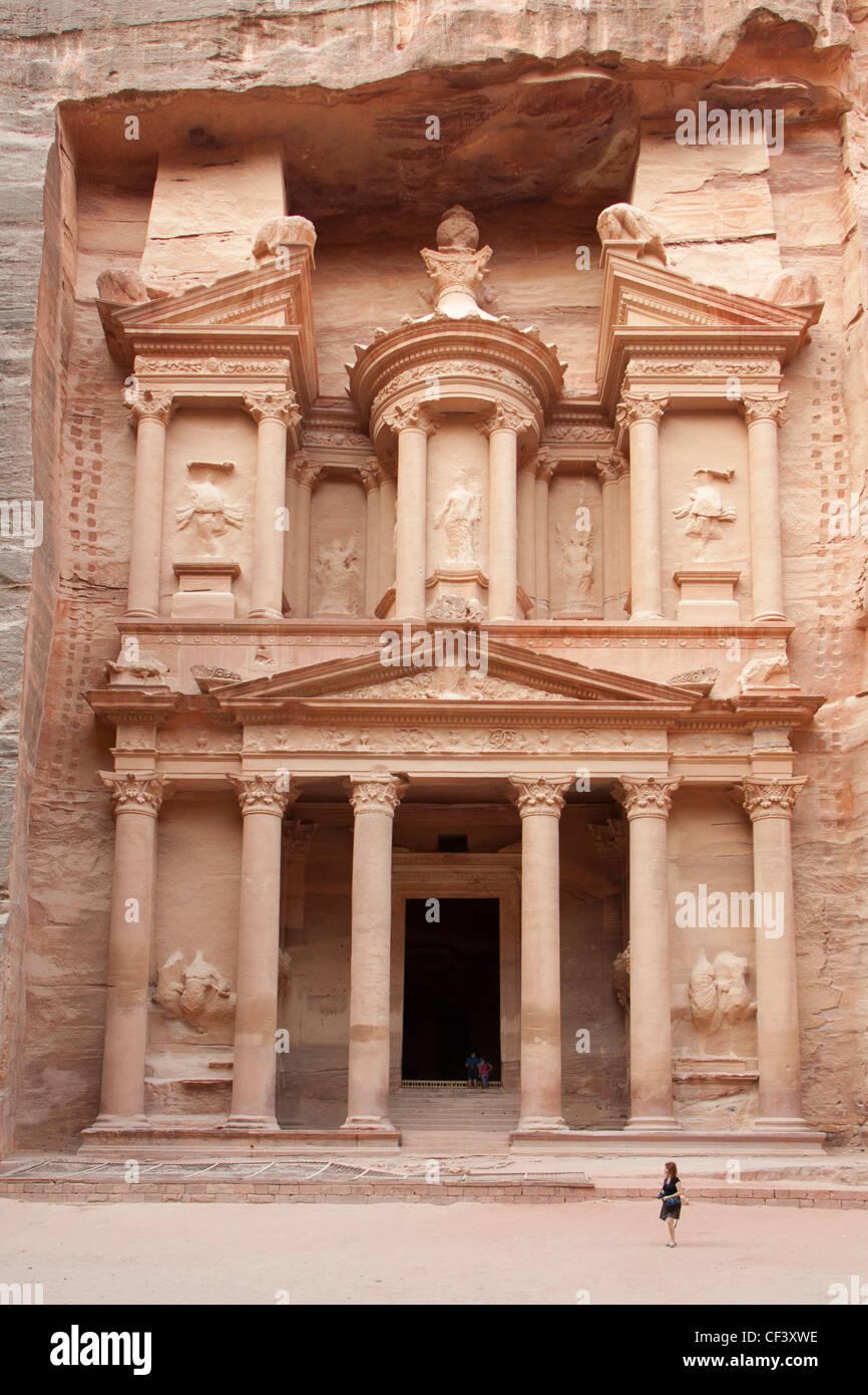 the treasury at Petra, Jordan - Stock Image