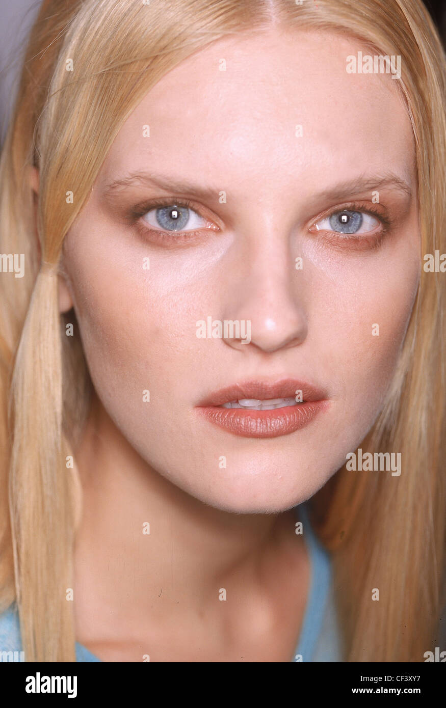 Frost French Backstage London Ready to Wear Autumn Winter Makeup - Stock Image