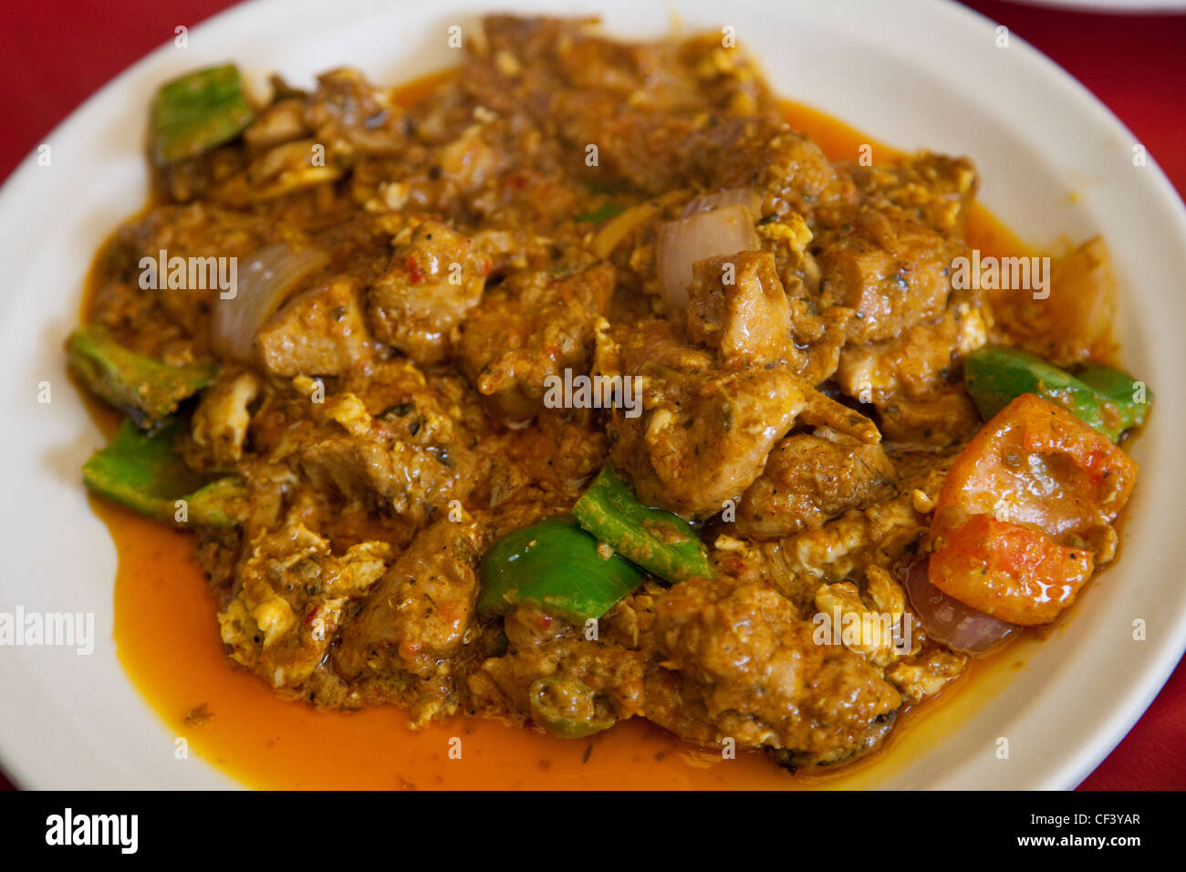 Chicken Jalfrezi Islamabad Pakistan Stock Photo Alamy